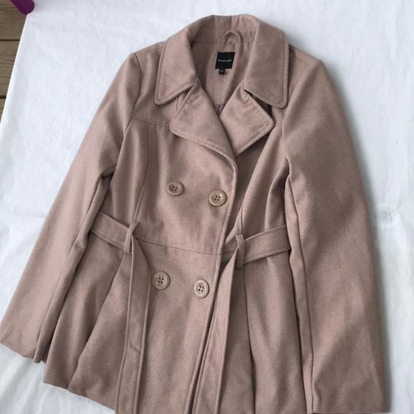 Rampage Jackets & Blazers - New Rampage sand Pebbled pea coat size Large